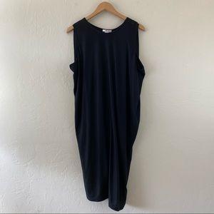 Helmut Lang Black Sleeveless Scoop-Neck Midi Dress
